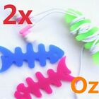 2x Fishbone Cord Winder, 10 Colours Silicon Earphone Cable Roller Wire Spooler