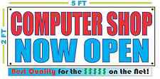 COMPUTER SHOP NOW OPEN Banner Sign NEW Larger Size Best Quality for the $$$