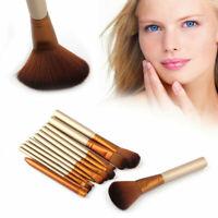 12pcs Make Up Brushes Powder Foundation Eyeshadow Blusher Lip Cosmetic Tools