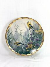 1992 Lenox Golden Splendor Nature's Collage Plate Collection China Plate Birds