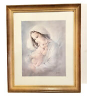 Vintage Religious Nativity Framed Print. Wall Hanging Decor