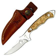 Elk Ridge 059 Fixed Blade Knife Burl Wood Handle + Sheath