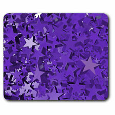Computer Mouse Mat - 3D Purple Stars Celebration Office Gift #12990