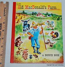 Old MacDonald's Farm A Bonnie Hardback Book 1964 High Grade!