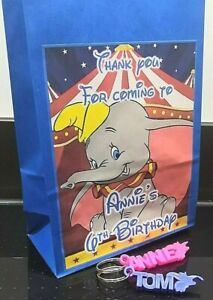 Personalised Dumbo Party Bags with Personalised 3D Keyrings