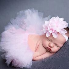 Newborn Baby Kid Girl Flower Headband  Tutu Skirt Photography Costume Prop