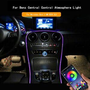 For Mercedes Benz C GLC W205 RGB Decor Interior Ambient Atmosphere Strip Light