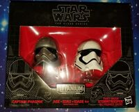 Star Wars Brand New Captain Phasma / Stormtrooper Black Series Titanium Helmet