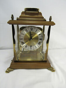 VINTAGE SCHATZ W3 8 DAY MANTLE CLOCK, BEAUTIFUL CHIMES, SEE PICS!