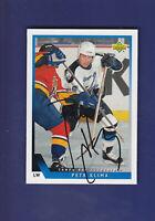 Petr Klima **Autograph** 1993-94 Upper Deck UD Hockey #526 Tampa Bay Lightning