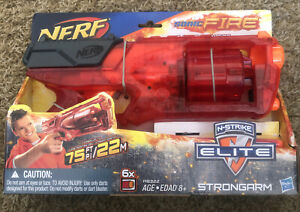 NERF N-Strike Elite Strongarm Sonic Fire Blaster with 6 Darts Fires up to 75'