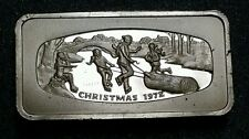 1972 Christmas Franklin Mint ☆.925 Sterling Ingot ☆2.083 Troy Oz Silver Bar ☆