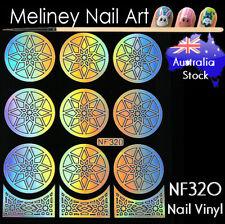 NF320 Star Round Nail Vinyl Sticker decoration Stencil Vinyls Art Craft Supply