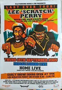 Lee Scratch Perry Mad Professor 2005 Australia last ever tour T-shirt & poster