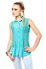 Locker sitzende ärmellose Damenblusen, - tops & -shirts für Business-Blusen