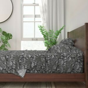 Ica Peru Stones Peruvian Artifacts 100% Cotton Sateen Sheet Set by Roostery