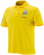 Lamborghini Men's Short Sleeve Bull Polo Yellow