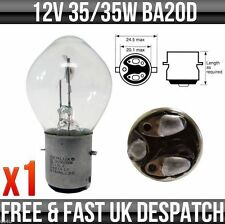 12V 35/35W BA20D MOTORBIKE / SCOOTER HEADLIGHT BULB 'E-APPROVED'