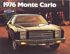 1976 Chevrolet Monte Carlo Brochure Coupe/Landau Coupe