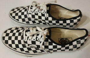 Vans Off the Wall Black White Checkered Low Top Sneakers Men Size 8 Women 9.5