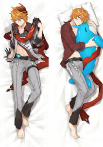 "Genshin Impact Tartaglia Dakimakura Anime Hugging Body Pillow Cover Case 59"" 1"