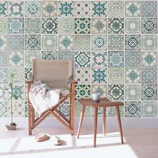 Self-adhesive Wallpaper Stickers-DIY Home Decor - Green tiles cover 2.16m X1.62m