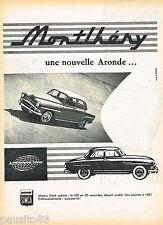 PUBLICITE ADVERTISING 065  1957  SIMCA ARONDE MONTLHERY