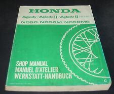 Werkstatthandbuch Honda Melody II Delux Shop Manual Manuel D´ Atelier 1982