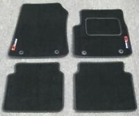Car Mats in Black to fit MG6 / MG 6 (2010 on) + MG6 Logos (x2) + Fixings