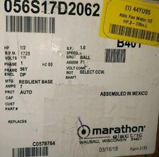 B401 1/2HP, 115VOLTS, 1725RPM, FRAME56Y MARATHON ELECTRIC MOTOR