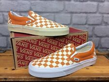 VANS MENS UK 7 EU 40.5 CLASSIC SLIP CHEDDAR AND WHITE CHECKERBOARD TRAINERS