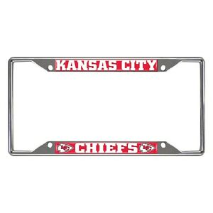 Fanmats NFL Kansas City Chiefs Chrome Metal License Plate Frame Delivery 2-4 Day