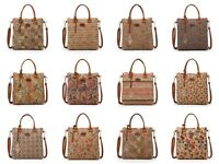 Ladies Natural Cork Beach Bag Shoulder Canvas Summer Tote Holiday Shopper Zip