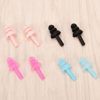 1pair Silicone Ear Plugs Anti Noise Snore Earplugs Comfortable For Study Slee Bh