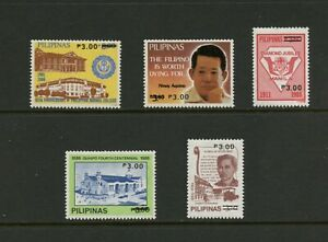 G501 Philippines 1988 Surcharged 5v. MNH