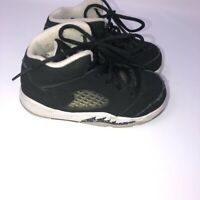 Nike Jordans Retro 5 Black White Kids Toddler Shoes Size 7C Junior