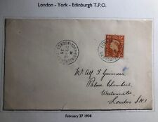 1938 London England Cover Domestic Used Traveling Post Office