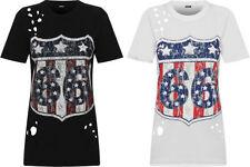 Short Sleeve Slogan Machine Washable Regular T-Shirts for Women