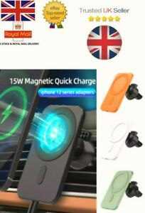 Qi Wireless Charger Car Phone Mount Holder Magnetic For iPhone 12 ALL SERIES