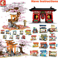 Sembo City Japan Sakura Street View Shop Mini Blocks Building Bricks Figure Lot
