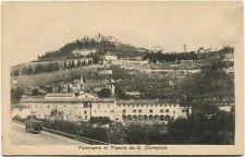Primi '900 Fiesole Firenze panorama San Domenico vecchio tram FP B/N ANIM