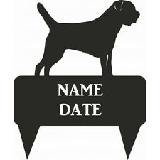 Border Terrier Rectangular Memorial Plaque