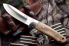 CFK USA Custom Handmade D2 Sheep Horn & Micarta Hunting Skinning RANCH Knife