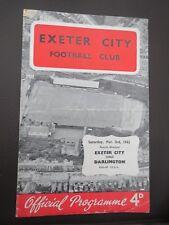 Exeter V Darlington    1961/2