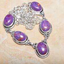 "Handmade Rainbow Mosaic Jasper Gemstone 925 Sterling Silver Necklace 21"" N00507"