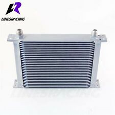 28 Row 10AN Universal Engine Transmission 248mm Oil Cooler Kit Silver FITS Ni...