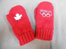 "Team CANADA Vancouver 2010 Olympic Fleece Lined MITTENS ADULT L - XL ""VGC"""