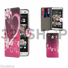 32nd Design Book PU Leather Wallet Case for HTC Desire 626 Screen Protector Love Heart
