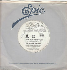 THE STAPLE SINGERS Are You Ready 45 - White label PROMO