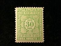 Jugoslawien ab 1921-MiNr.54 Portomarke Wertziffer im Kreise und Zierrahmen 30 Pa